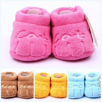 New Kids Baby Toddler Unisex Boys Girls Cotton Soft Sole Skid-proof PreWalkers = 1929577860