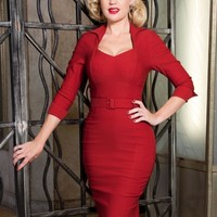 Lorelei Dress in Deep Red
