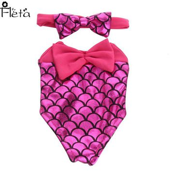 Fleta Doll Clothes 3color Cute Summer Swimwear for 18 inch American Girlor 43cm born baby Doll Accessories Children's Day Gift