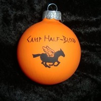percy jackson camp half blood ornament, camp jupiter ornament