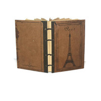 Paris Journal with coptic binding - Travel journal - Vintage Inspired