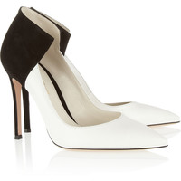 Gianvito Rossi | Two-tone leather and suede pumps | NET-A-PORTER.COM