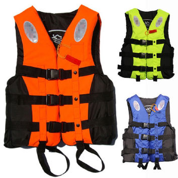Outdoor Life Vest for fishing life vest Life Jacket raft swim vest inflatable life vest adult with whistle