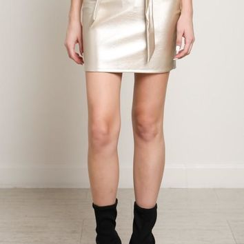 Vegan Gold Mini Skirt