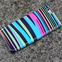 Zebra iPhone 6 Rainbow iPhone 6 plus Case iPhone 5S 5 iPhone 5C iPhone 4S/4 Samsung Galaxy S6 edge S6 S5 S4 Note 3 Case Pink Blue Black 013
