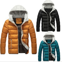 Mens Fashion Hooded Parka Jacket WINTER WARM Duck Down Coat Thicker = 1697508420