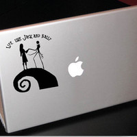 Nightmare Before Christmas Jack and Sally Vinyl Decal