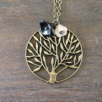 Weeping Willow Necklace - Bronze