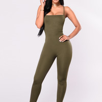 Aim Right Jumpsuit - Olive