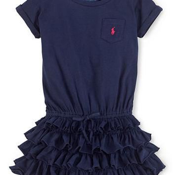 Ralph Lauren Childrenswear Girls 2-6x Jersey Tiered Ruffle Dress