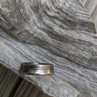 New Hampshire coin ring. Quarter ring. White mountain ring.