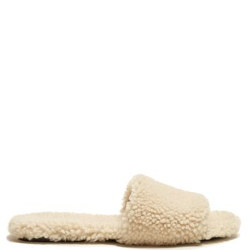 Shearling slides | The Row | MATCHESFASHION.COM UK
