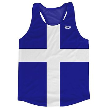 Finland Country Flag Running Tank Top Racerback Track and Cross Country Singlet Jersey