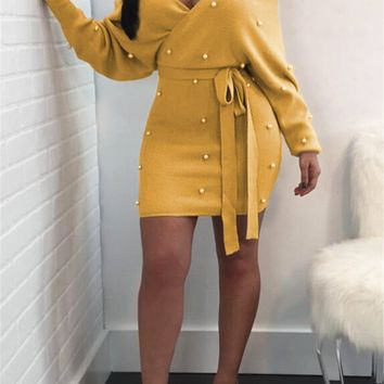 Felicity Off The Shoulder Dress - Yellow