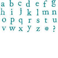 Lowercase Legacy Letters Rubber Stamp Set