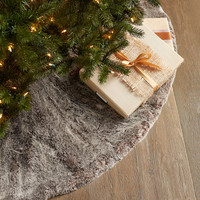 Faux-Fur Christmas Tree Skirt - Neiman Marcus