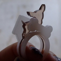 Bad Chihuahua ring set from Dog Lovers collection NEW