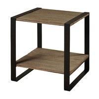 Style Craft Metal and Reclaimed Wood End Table