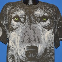 90s White Wolf Pack All Over Print t-shirt Extra Large