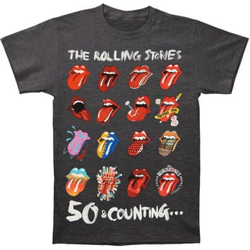 Rolling Stones Men's  Tongue Evolution Slim Fit T-shirt Grey