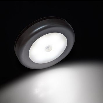 Goldmore Motion Sensor Light,Battery Powered LED Wireless Night Light,Wall Light for Hallway, Closet, Stairs, Bathroom, Bedroom,Kitchen,with FREE 3M Adhesive Pads(3 pack)