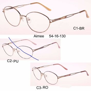 Cheap women optical glasses gafas cymka oculos armacao de oculos Plain silhouette Silicone marca round Optical EyeGlasses Frame