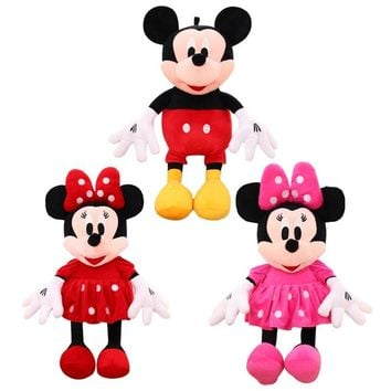 1pcs 2018 Hot Sale 50cm Classic Mickey&Minnie Mouse doll Lovely Soft Plush toy Doll Creative Wedding Birthday Gift For Friend