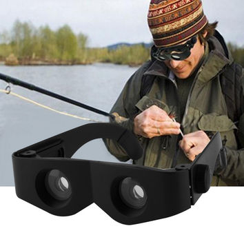 Fishing Portable Glass Style Black Telescope & Magnifier For Fishing Hiking Binoculars new arrival