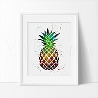 Pineapple 1.0 Watercolor Art Print