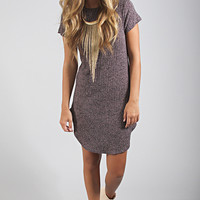 rockin' ribbed tee dress - purple