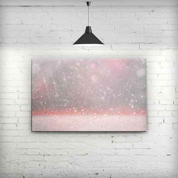 Muted Pink and Grunge Shimmering Orbs - Fine-Art Wall Canvas Prints