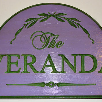 Custom Personalized Carved Wood Sign - Hand Painted - Customized WIth Your Choice of Words