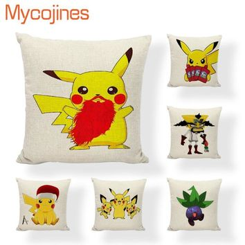 Hot Sale kawaii  Cushion Covers Christmas Chinchilla Love Home Decorative Living Room Sofa Seat Square Wedding PillowcaseKawaii Pokemon go  AT_89_9