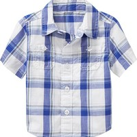 Patterned Short-Sleeved Shirts for Baby