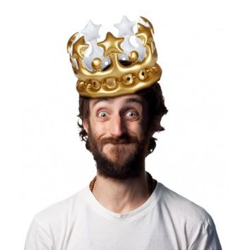 King For The Day Inflatable Crown Costume Accessory