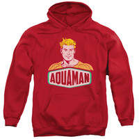 DCO/AQUAMAN SIGN-ADULT PULL-OVER HOODIE-RED