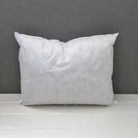 Travel Pillow Insert: Plush Pillow Form, Lumbar Travel Pillow, 12 x 16 inches--Ready to ship!