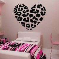 "23.6"" X 27.5"" Leopard Heart Wall Decals DIY Wall Sticker Art Decor"