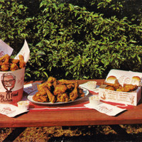 Vintage Postcard Coupon Kentucky Fried Chicken KFC Lafayette IN