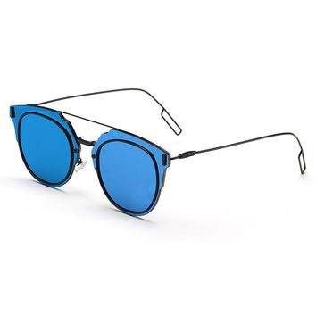 Double Color Frame and Lens Sunglasses