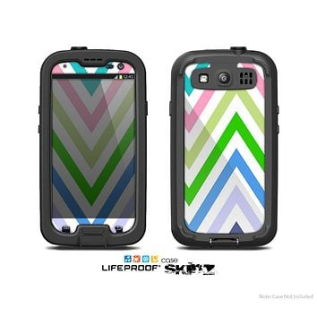 The Fun Colored Vector Sharp Chevron Pattern Skin For The Samsung Galaxy S3 LifeProof Case