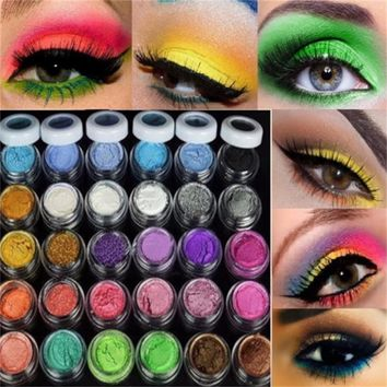 30 Colors/lot Professional Colorful Eye Shadow Powder Mineral Luminous Shimmer Matte Eyeshadow Women Face Cosmetic Makeup Tools
