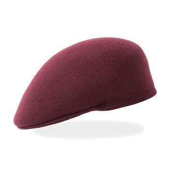 Classic Premium Wool Burgundy English Hat