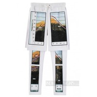 Indie Designs Custom Made HBA Mountain Photo Print Shorts