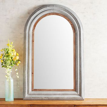 Galvanized Arch Mirror
