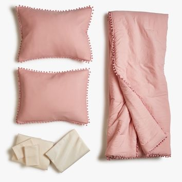 Pom Pom Comforter Bed Set