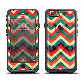 The Abstract Colorful Chevron Skin Set for the Apple iPhone 6 LifeProof Fre Case