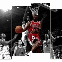HD Giclee Canvas Prints Wall Art Michael Jordan Amazing Chicago Bulls for Living Room Bedroom Home Office Etc