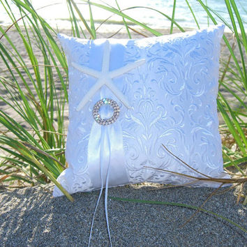 Beach Wedding Starfish Ring Bearer Pillow-Nautical Weddings, Starfish Ring  Pillow, Wedding Ring Bearer Pillow, Beach Wedding Ring Pillow