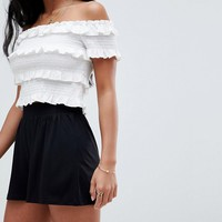 ASOS DESIGN Petite Culotte Shorts at asos.com